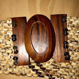 Wooden beaded belt